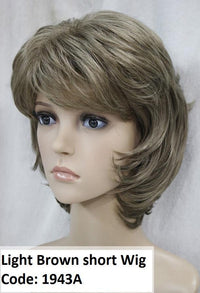 Light Brown short layered wig