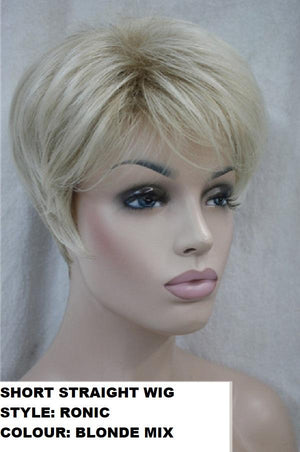 Short Striaght Blonde Mix Ronic Wig