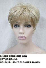 Short Striaght Light Blonde Ronic Wig
