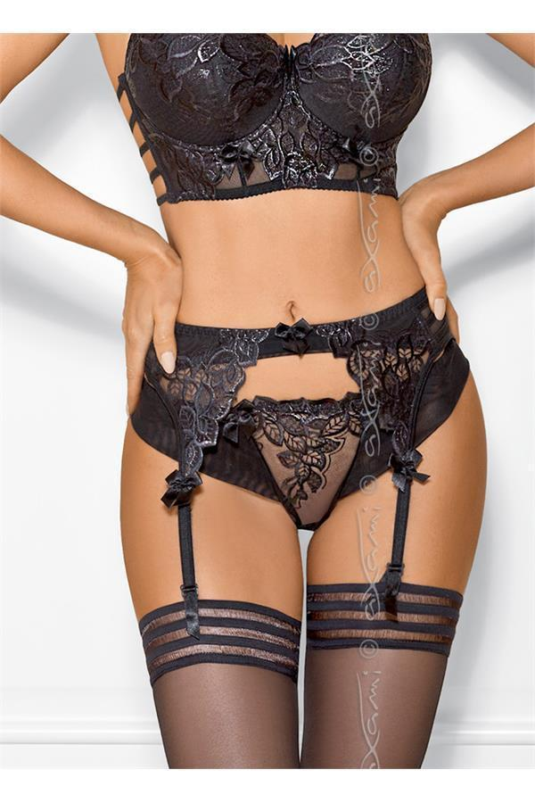 Garter-belt Axami V-7862 Chocolate bar