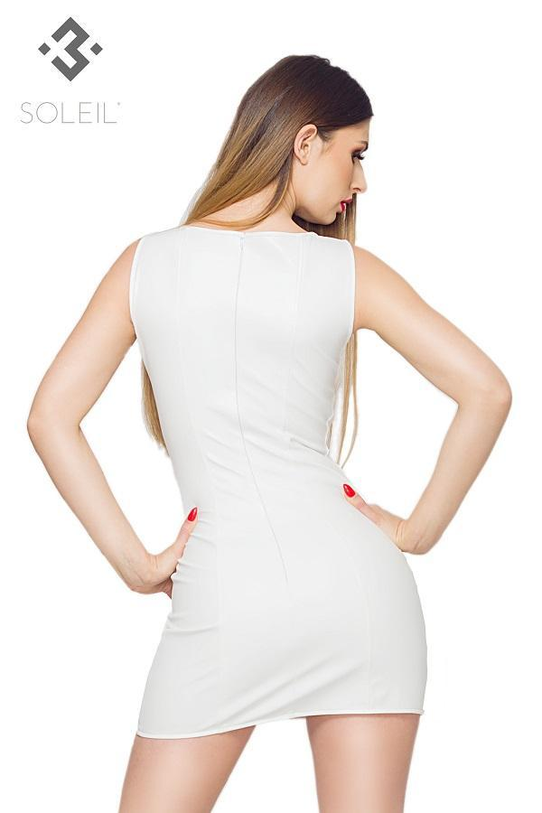 White Eco Leather Dress TXF023016