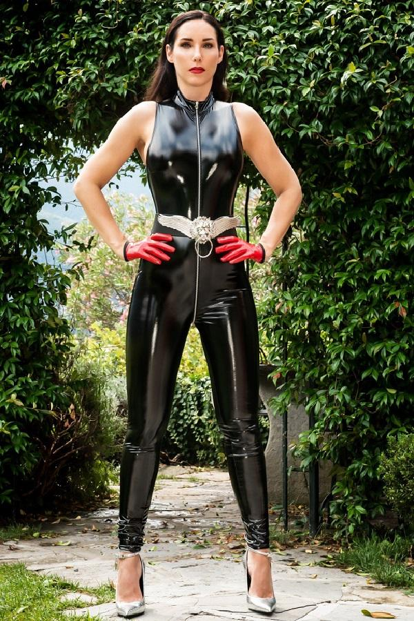 Black Vinyl Catsuit Angelica