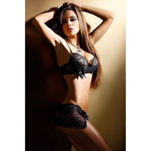 Axami V-1428 G-string With Lace Skirt - Axami V-1428 G-string With Lace Skirt