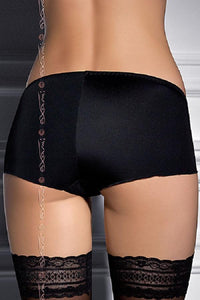 Black plus size panties