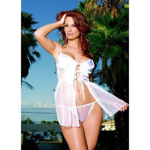 White open front nightdress 1-X-Large - Flirtywomen
