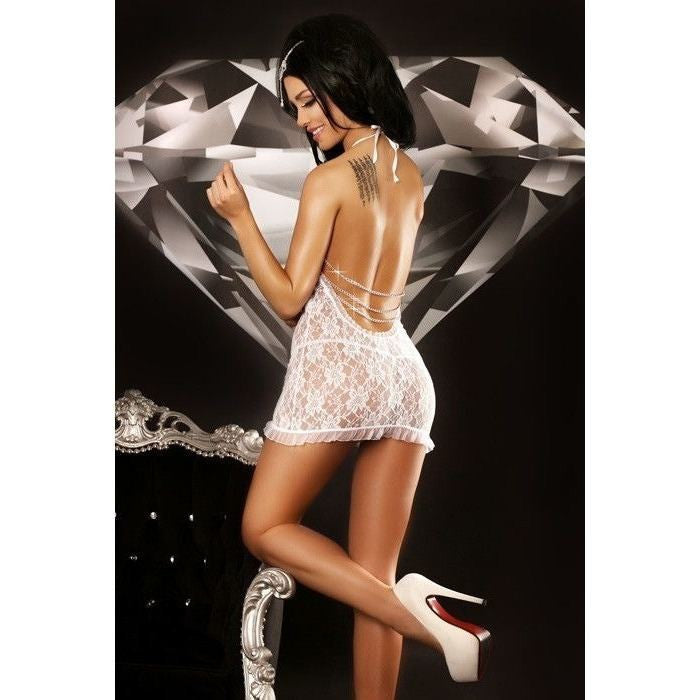 Backless Lace White Nightdress - Backless Lace White Nightdress