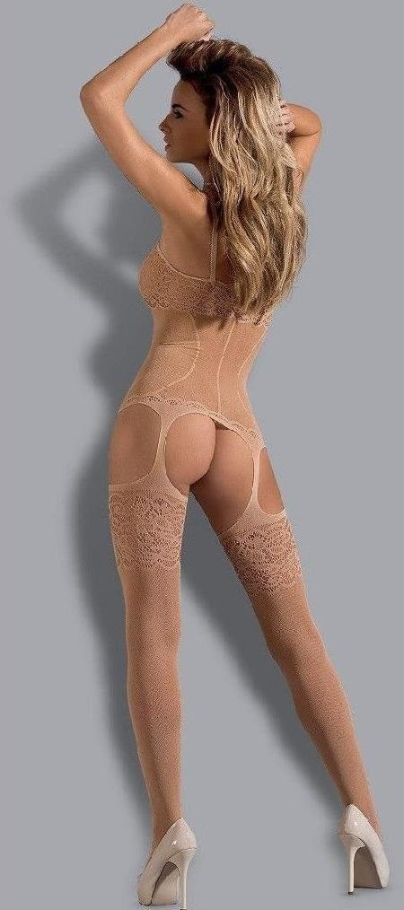 Beige Bodystocking