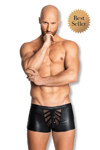 Provocative Men`s Eco-Leather shorts for <span class=money>€54.95 EUR</span> at Flirtywomen