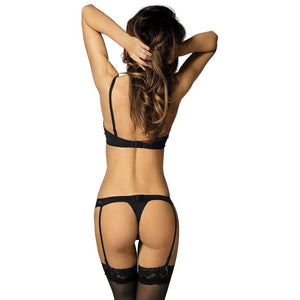 Black Classic Low-waist Garter Belt - Black Classic Low-waist Garter Belt