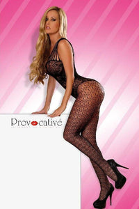 Black fishnet bodystocking - Flirtywomen