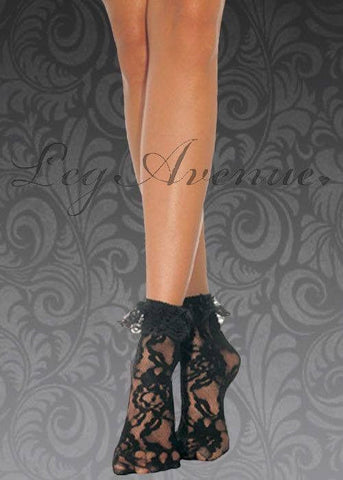 Black lace anklets for <span class=money>€4.95 EUR</span> at Flirtywomen