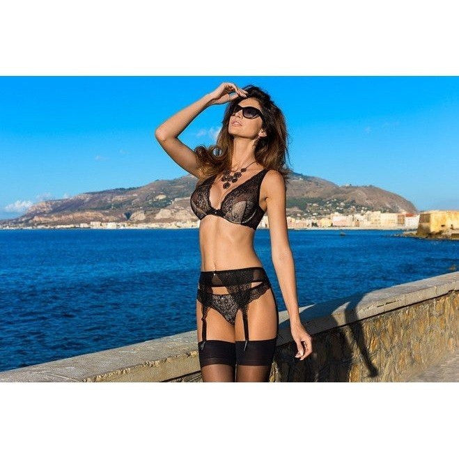 Black Low-waist Garter Belt - Black Low-waist Garter Belt