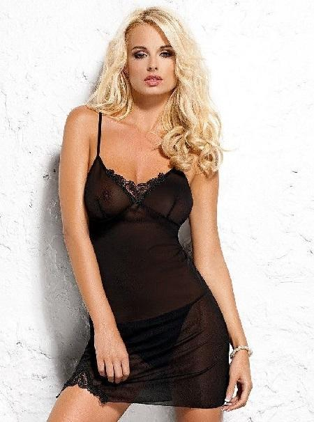 Black sheer nightdress