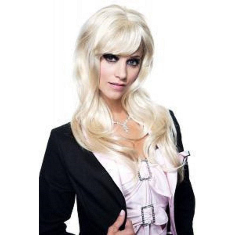 Blonde wig with a flowing fringe - Flirtywomen