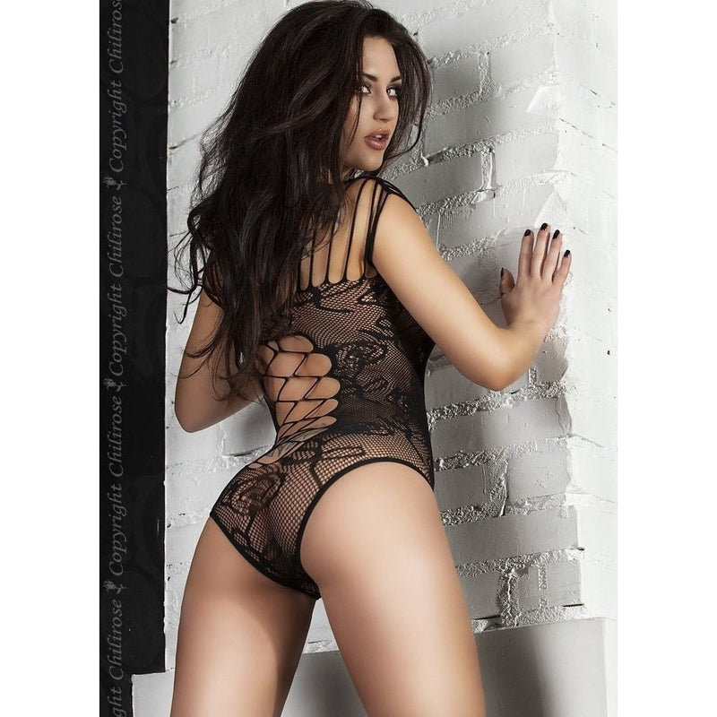 Black seductive lingerie body - Flirtywomen