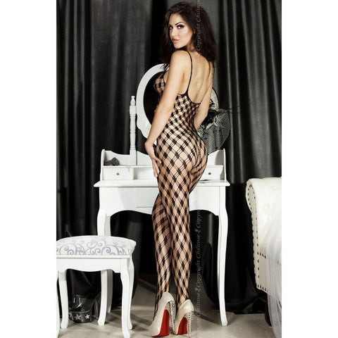 Black crotchless bodystocking - Flirtywomen