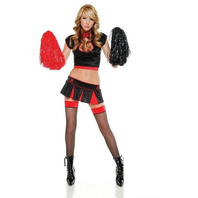 Cheerleader inspired fancy dress - Flirtywomen