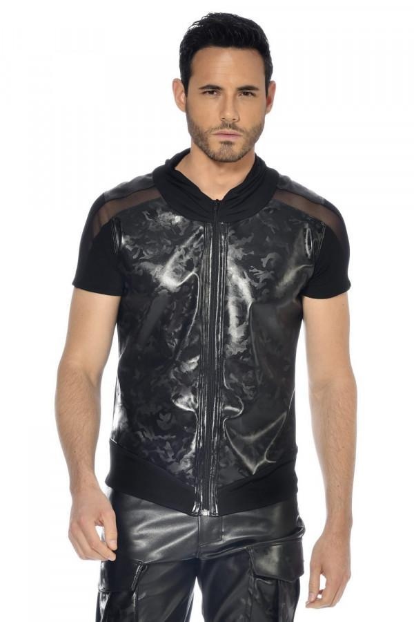 Faux leather shirt Bronn