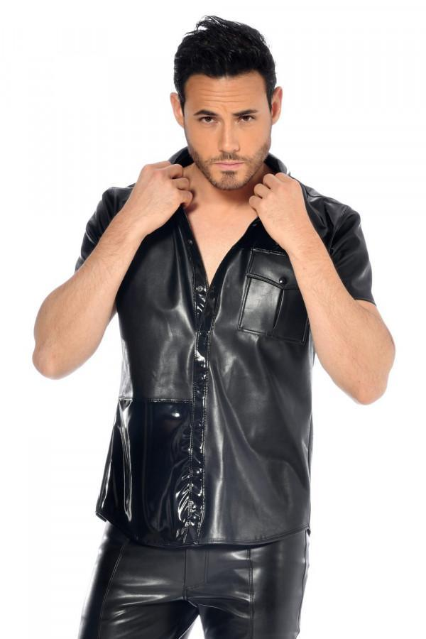 Faux leather shirt Liam
