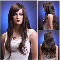 Chestnut brown long wavy wig - Flirtywomen