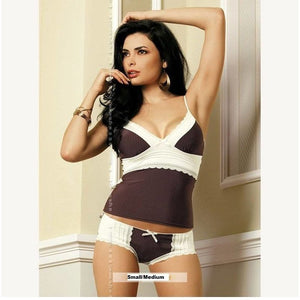 Choco Camisole Top And Briefs - Choco Camisole Top And Briefs