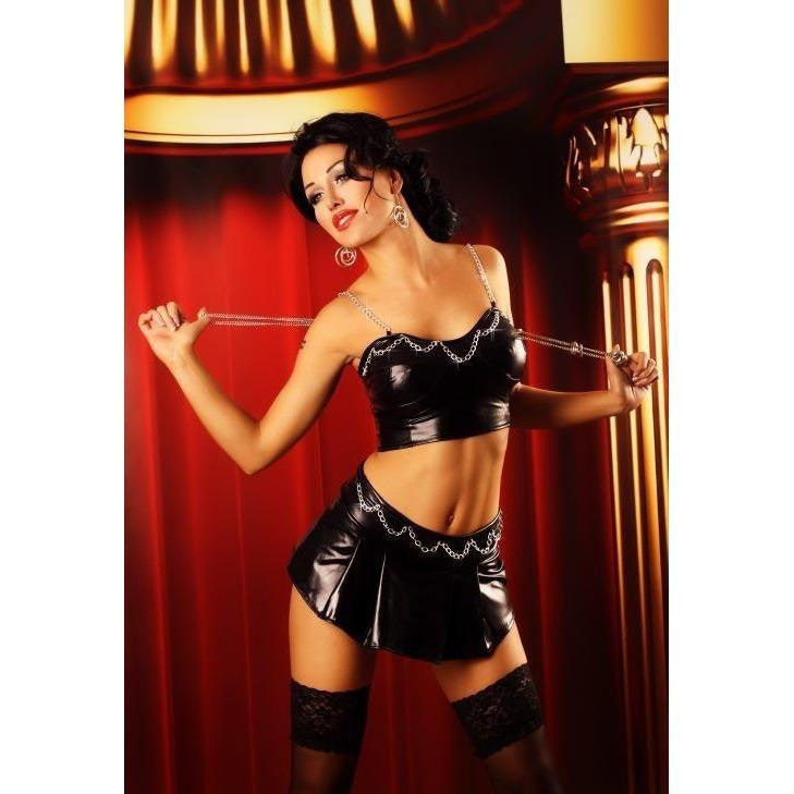 Club Wear Mini Skirt And Top Set - Club Wear Mini Skirt And Top Set