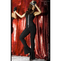 Steel bone pinstripe corset with a thong - Flirtywomen