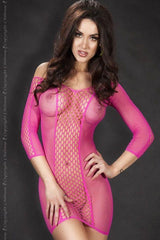 Long sleeved pink seamless dress for <span class=money>€14.95 EUR</span> at Flirtywomen