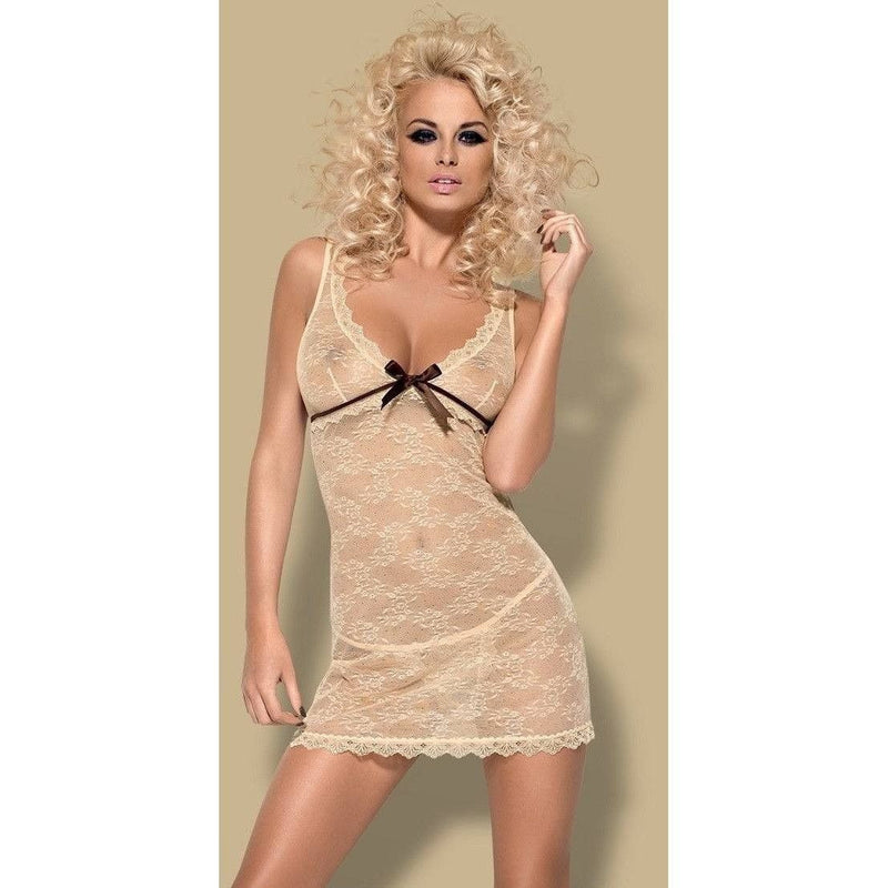 Cream Lace Nightdresss - Cream Lace Nightdresss