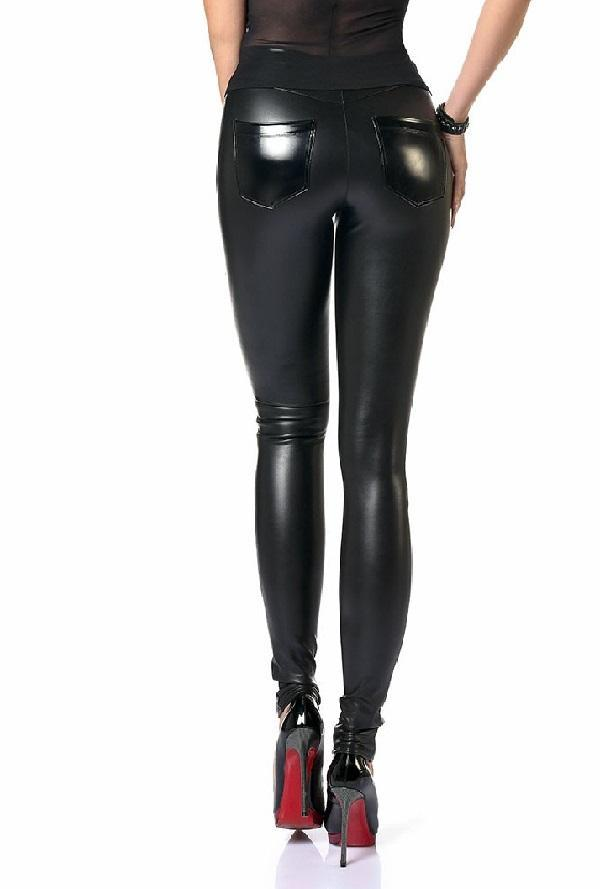 Wet-Look Dina Leggings