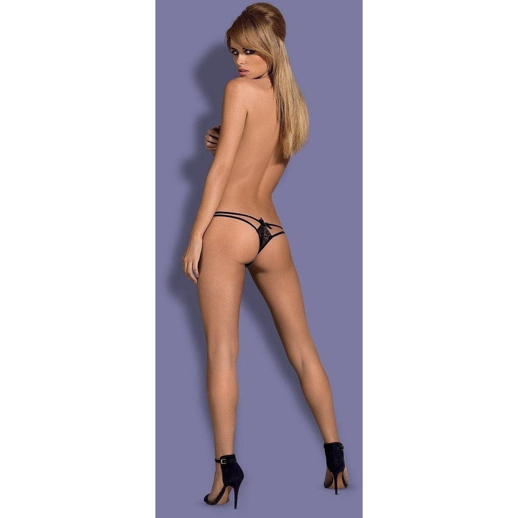 Double String Black Thong - Double String Black Thong