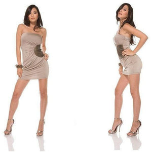 Dress - Beige Tube Dress