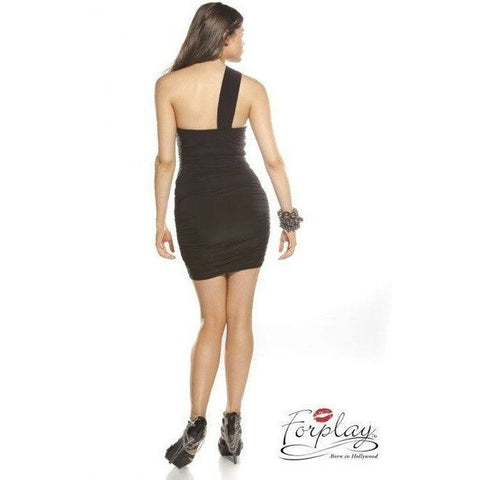 Dress - Black Dress With Mesh Detail