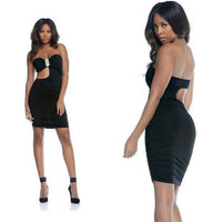 Dress - Black Strapless Mini Dress