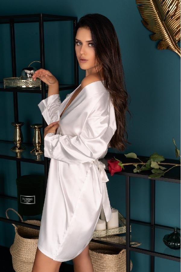 White Dressing Gown Edelina