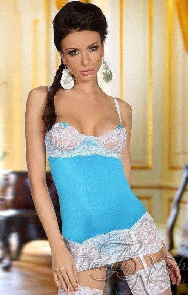 Elegant light blue nightdress