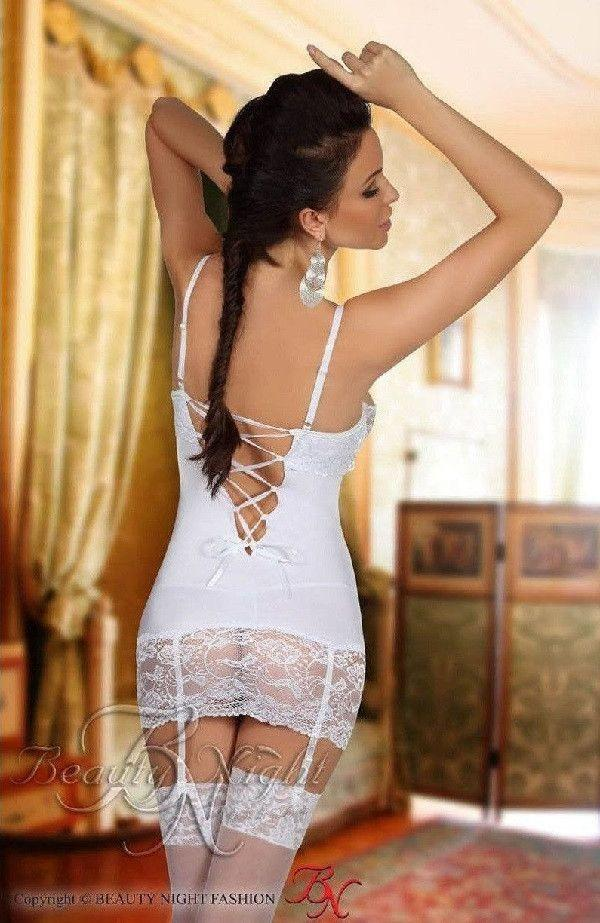 Elegant white nightdress