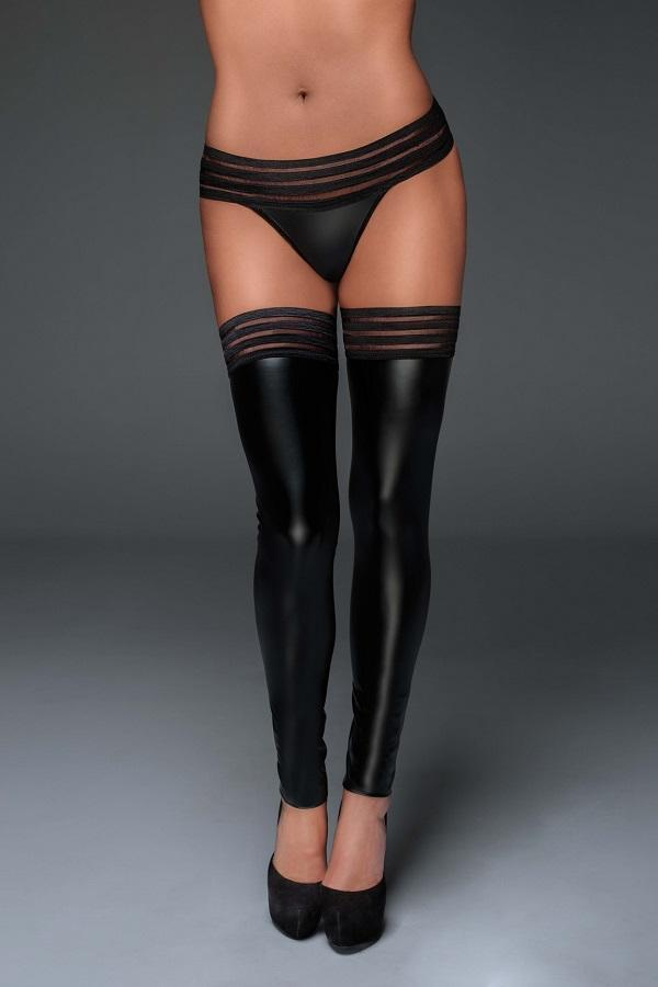 Power wet look stockings F158