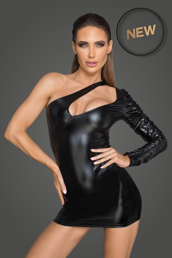 Wet-Look Dress F199