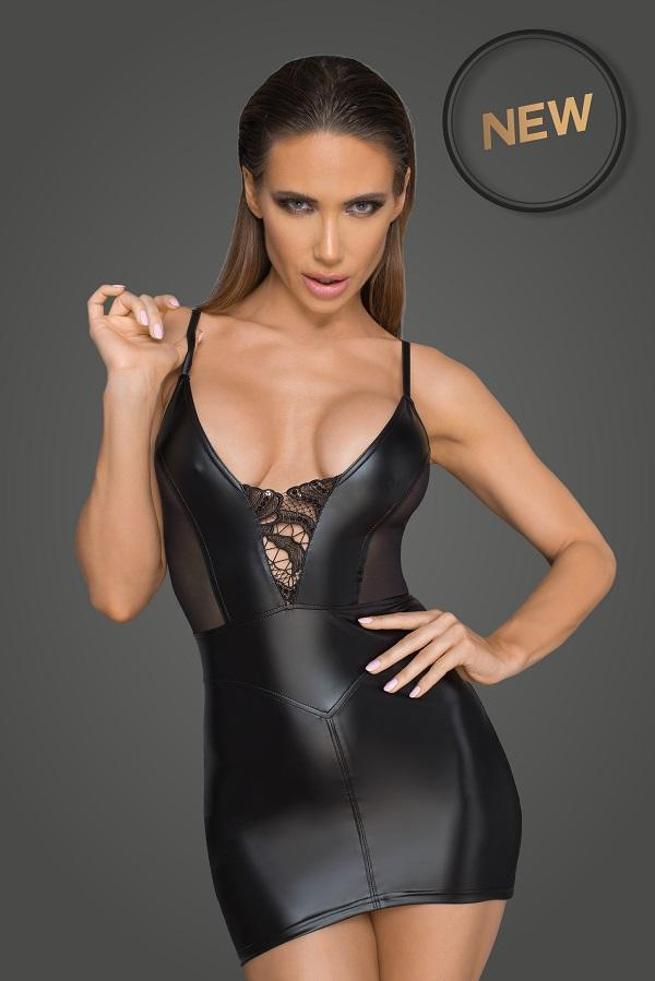 Wet-look Mini dress F205