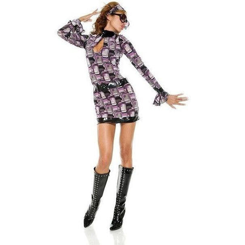 Retro chic long sleeved mini dress for <span class=money>€24.95 EUR</span> at Flirtywomen