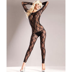 Footless Long Sleeve bodystocking for <span class=money>€19.95 EUR</span> at Flirtywomen