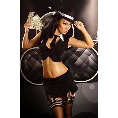 Four piece Gangster costume - Flirtywomen