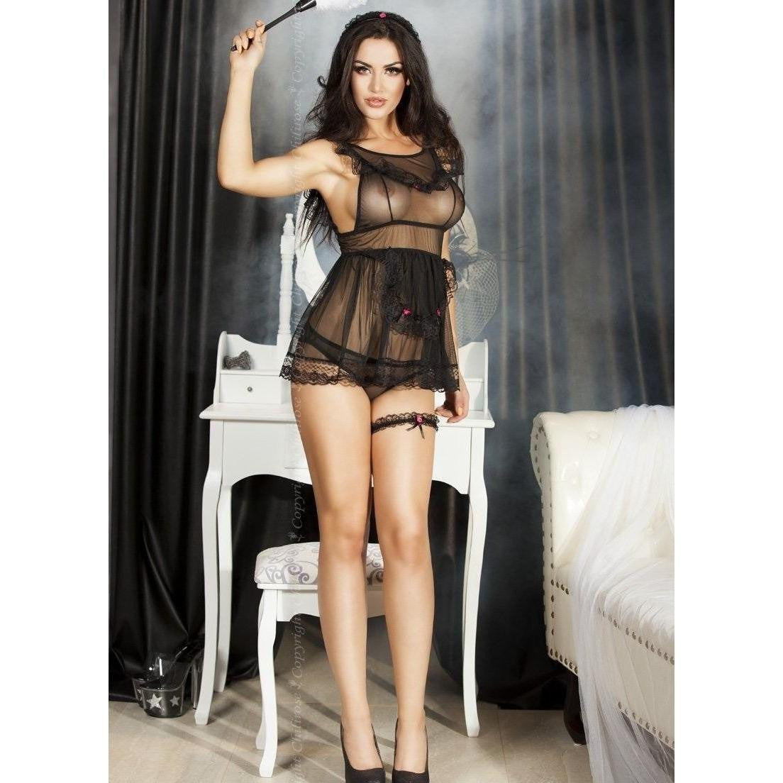 Lingerie French Maid nightdress set for <span class=money>€26.95 EUR</span> at Flirtywomen