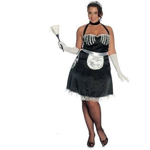 French maid plus size fancy dress costume for <span class=money>€29.95 EUR</span> at Flirtywomen