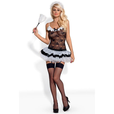 Five piece French maid set with stockings for <span class=money>€49.95 EUR</span> at Flirtywomen