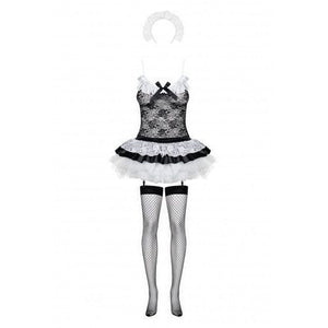 Five piece French maid set with stockings - Flirtywomen