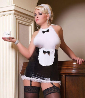 French Maid lingerie set with stockings