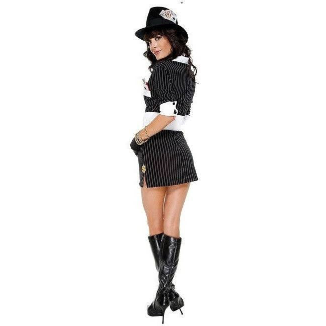 Mobster costume pinstripe dress - Flirtywomen