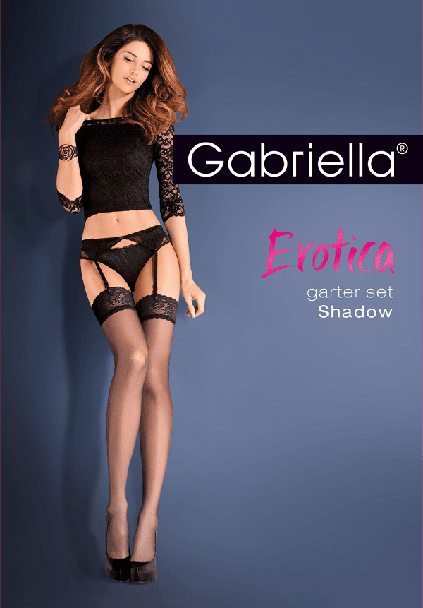 Garter-belt with 15 denier stockings